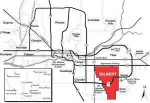 gilbert arizona map where is gilbert az located