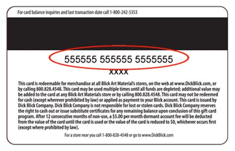 Gift Cards Numbers - gift cards customer service blick art materials