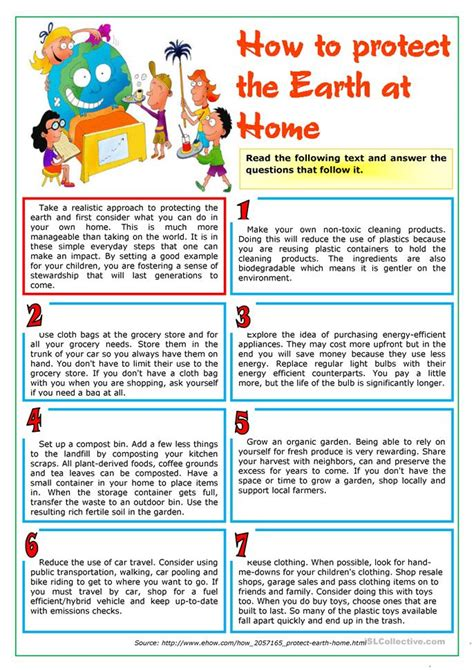 how to protection how to protect the earth at home worksheet free esl printable worksheets made by