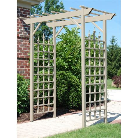 Garden Arbor Lowes by Shop Dura Trel 72 In W X 85 In H Brown Garden Arbor At