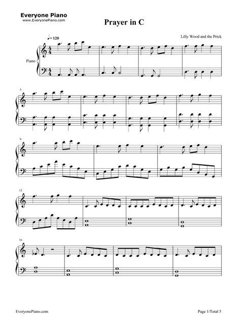 tutorial piano prayer in c prayer in c lilly wood and the prick五线谱预览1 钢琴谱 五线谱 双手简谱 免费下载