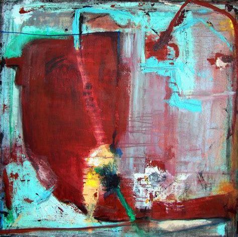 Tas Matras Canvas Abstrak Maroon painting abstract painting burgundy blue aqua large original textured painting 30 x 30