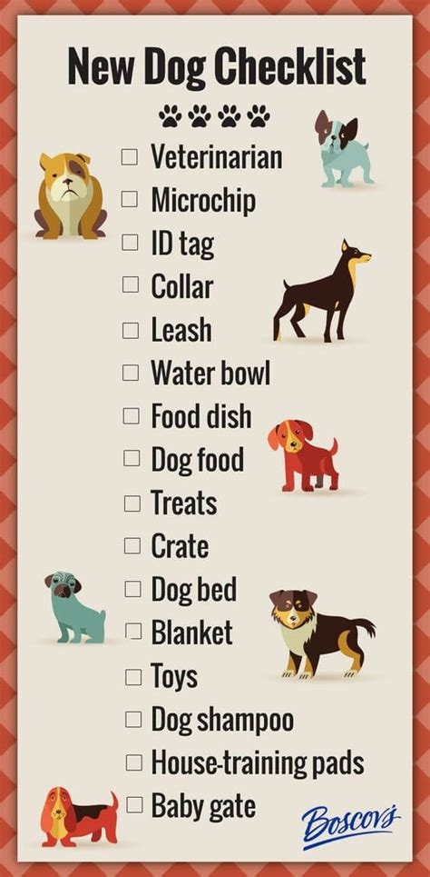 new puppy list new checklist about dogs