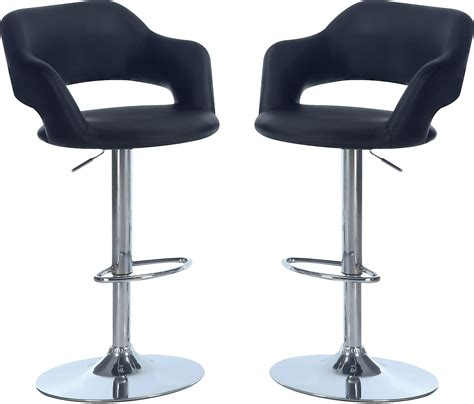chairs bar stools and tables hydraulic bar stool package black the brick