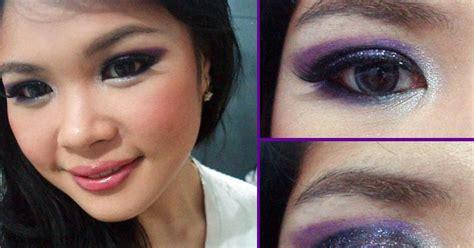 Eyeshadow Sariayu Karimunjawa bubblegum happiness makeup look seductive purple