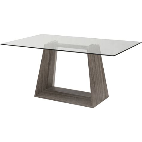 walmart glass dining table chintaly luisa rectangular dining table with glass top