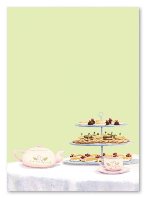 free high tea invitation template