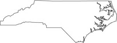 outline map of carolina geography carolina outline maps