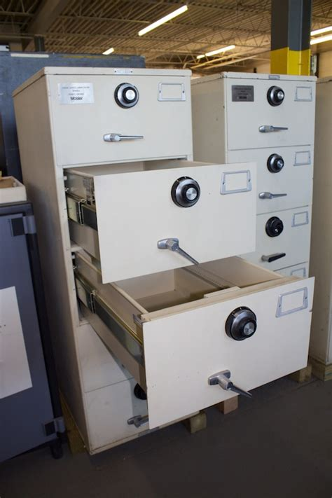Pre Owned Mosler 5 Drawer GSA Class 6 Filing Cabinet Legal