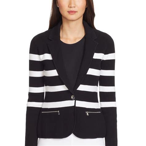 Sweater Blazer Cardigan Cotton Rajut 11 ralph striped cotton sweater blazer in white lyst
