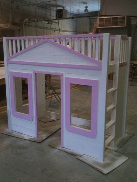 playhouse bed diy loft bed playhouse for the kids home stuff