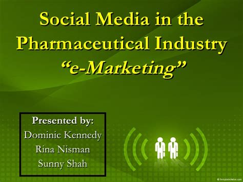For The Pharmaceutical Industry Students Book Original e marketing in the pharmaceutical industry a student presentation