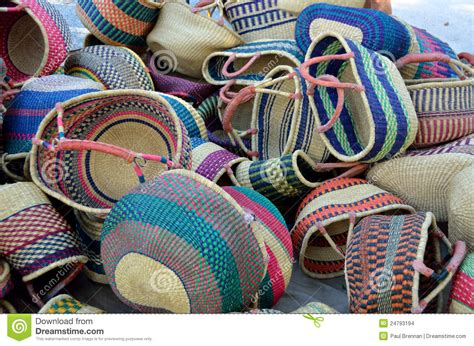colorful woven baskets colourful woven baskets stock images image 24793194