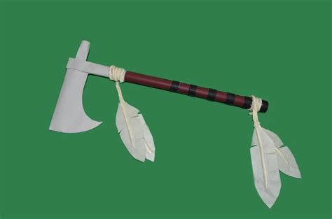 How To Make A Paper Axe - how to make a paper battle axe tomahawk