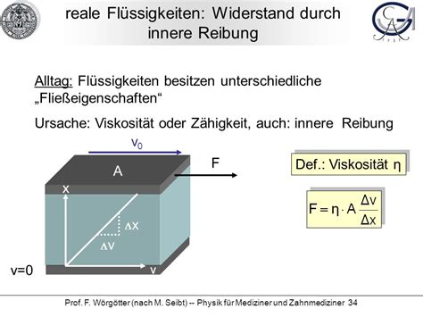 innere reibung physik f 252 r mediziner und zahnmediziner ppt