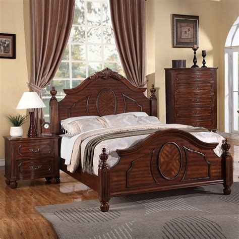 Small Kitchen Carts And Islands classic grand style cherry wood arched headboard footboard