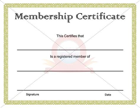 membership certificate template 15 best images about membership certificate template on