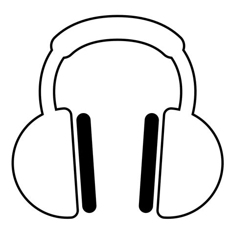earphones coloring page simple headphone coloring pages