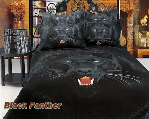 black panther print 3d comforter set