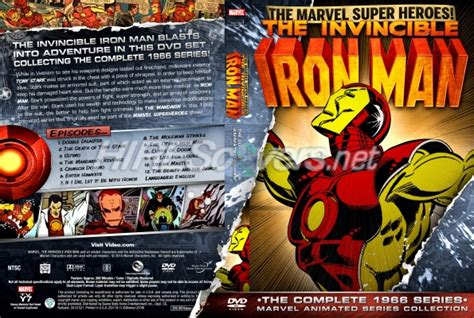 Vcd Original The Invincible Ironman dvd cover custom dvd covers bluray label