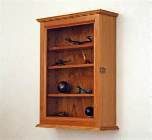 Curio Cabinet For Wall Cherry Curio Display Wall Cabinet