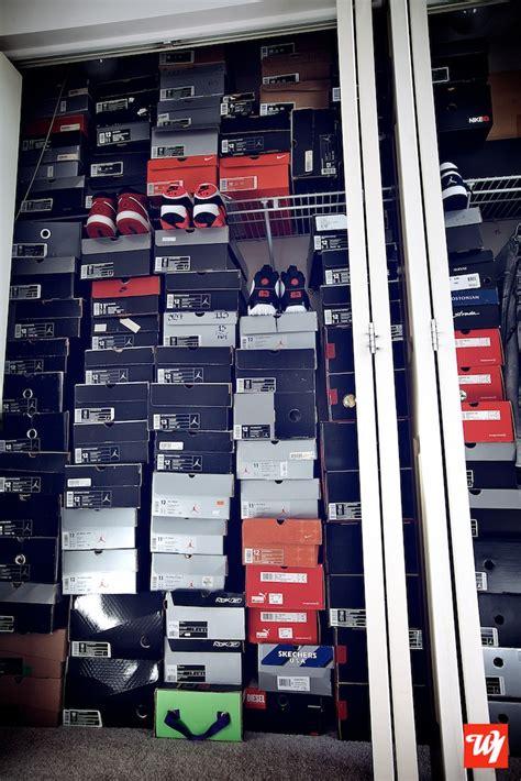 Sneakerhead Closet by Closets Overflowing Sneakerhead Kicks Collection Nike Airjordan Michaeljordan Jumpman