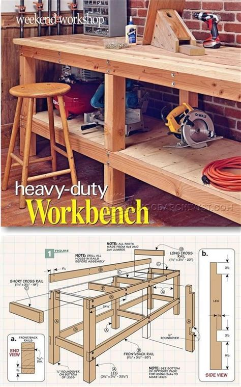 heavy duty work bench plans heavy duty workbench plans workshop solutions projects tips and tricks woodarchivist com