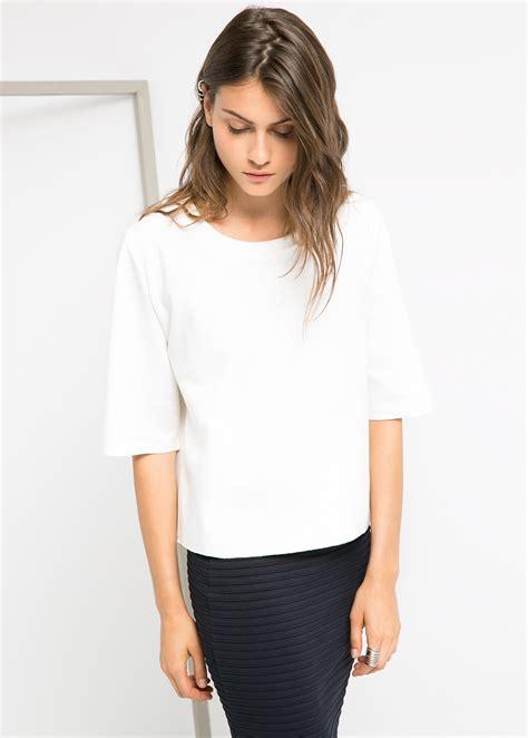 Mango Tshirt by Mango Boxy T Shirt In White Lyst