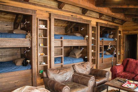cabin bunk beds cabin bunk bed ideas bedroom rustic with navajo blanket
