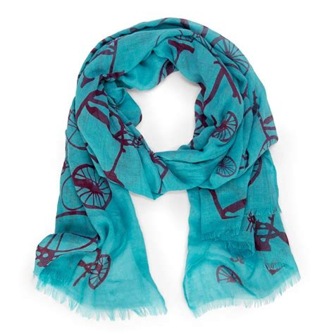 Japanese Design Print Scarf bicycle print scarf turquoise product design inspiration things i