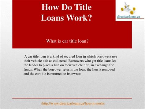 vehicle title loan    works