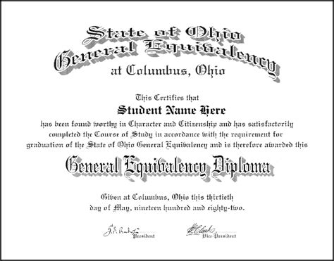 ged certificate template diploma degree college degree or any type