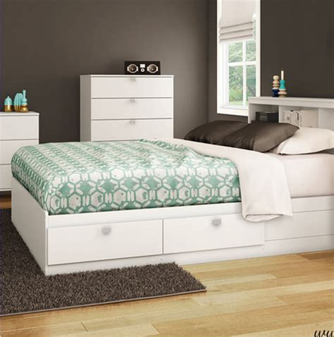 bed frame with storage full full size white platform bed frame with 4 storage drawers