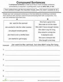 great grammar compound sentences worksheet education com