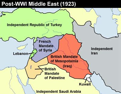 in 1923 the ottoman reorganized as what country post world war i middle east when today s trouble