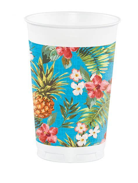 Hawaii Motive by 8 Gro 223 E Partybecher Hawaii Motiv 473 Ml Partydeko Und