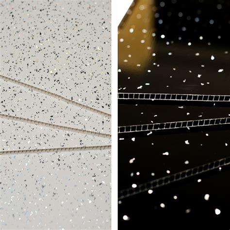 black white sparkle pvc bathroom wall cladding