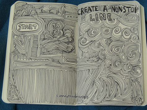 how to start a doodle page nonstop line wreck this journal by jennyarchibald on