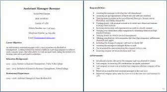 cv for manager exle of manager cv sle cv