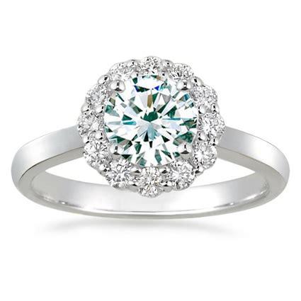 White Lotus Ring White Gold Lotus Flower Engagement Ring I Weddings