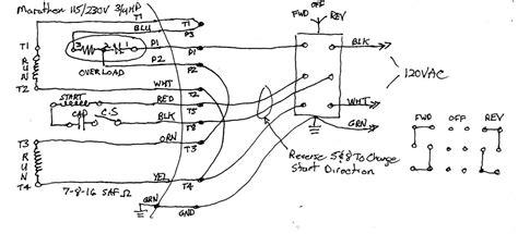 marathon single phase motor wiring diagram reversing 52