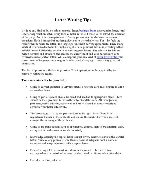 Cover Letter Advice Tips by Letter Writing Advice