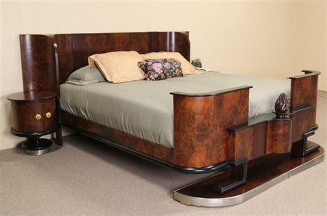 art deco bedding sold italian 1935 art deco king size bed nightstands bedroom set harp gallery