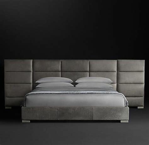Ordinaire Lit Avec Tete De Lit Cuir #1: tete-de-lit-capitonn%C3%A9e-simili-cuir-gris-chambre-a-coucher-gris-anthracite.jpg
