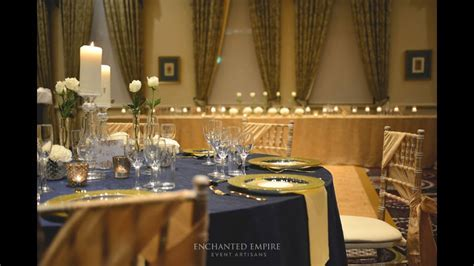 Navy and Gold Wedding Theme, styled by Enchanted Empire