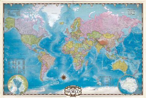 map   world  poles jigsaw puzzle
