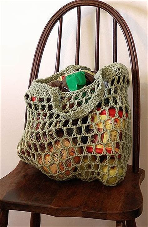 artist bag pattern eco art blog free reusable crocheted grocery bag pattern