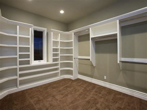 build walk in closet how to build large closet shelves house and home