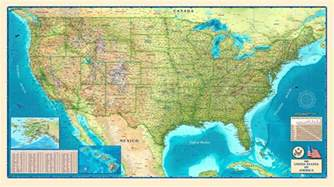 united states physical geography map united states physical wall map by compart maps