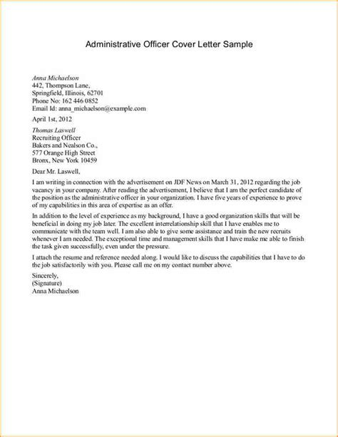 cover letter for aide exles application letter exles for administrative 28 images